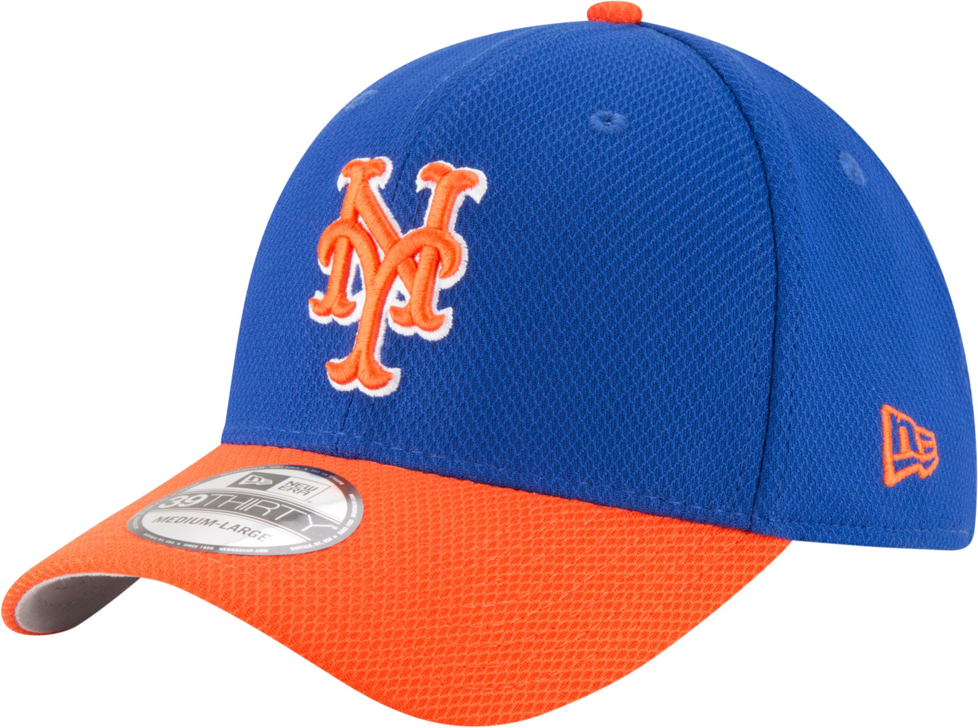 quality design 58a05 79d2e ... usa fitted cap new era mens new york mets 39thirty diamond era royal  orange flex hat