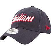 New Era Men's Cleveland Indians 9Twenty Script Navy Adjustable Hat