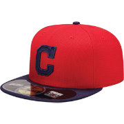 New Era Men's Cleveland Indians 59Fifty Diamond Era Red Batting Practice Hat