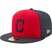 New Era Men's Cleveland Indians 59Fifty Diamond Era Red/Navy Fitted Hat