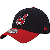 New Era Men's Cleveland Indians 39Thirty Classic Navy Stretch Fit Hat