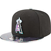 New Era Men's Los Angeles Angels 9Fifty Oil Tricked Black Adjustable Hat