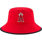 New Era Men's Los Angeles Angels Red Team Bucket Hat