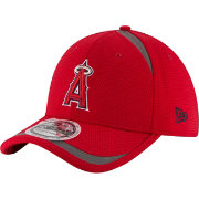New Era Men's Los Angeles Angels 39Thirty Red Reflectaline Stretch Fit Hat