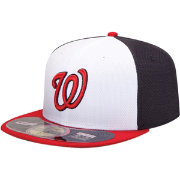New Era Men's Washington Nationals 59Fifty Diamond Era White/Navy Batting Practice Hat