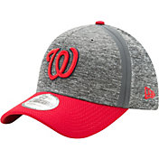 New Era Men's Washington Nationals 39Thirty Clubhouse Grey/Red Flex Hat