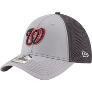 New Era Men's Washington Nationals 39Thirty Grayed Out Grey Stretch Fit Hat