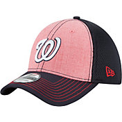 New Era Men's Washington Nationals 39Thirty Heathered Neo Stretch Fit Hat