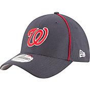 New Era Men's Washington Nationals 39Thirty Diamond Era Navy Stretch Fit Hat