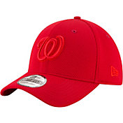 New Era Men's Washington Nationals 39Thirty Tone Tech Red Stretch Fit Hat