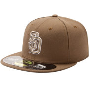 New Era Men's San Diego Padres 59Fifty Alternate Brown Authentic Hat