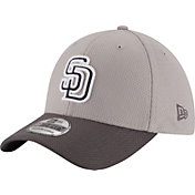 New Era Men's San Diego Padres 39Thirty Diamond Era Grey Flex Hat