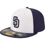 New Era Men's San Diego Padres 59Fifty Diamond Era Alternate White/Navy Batting Practice Hat