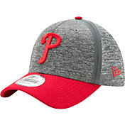 New Era Men's Philadelphia Phillies 39Thirty Clubhouse Grey/Red Flex Hat