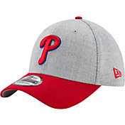New Era Men's Philadelphia Phillies 39Thirty Change Up Redux Grey Flex Hat