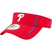 New Era Men's Philadelphia Phillies Red Adjustable Speed Visor
