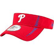 New Era Men's Philadelphia Phillies Red Adjustable Speed Visor