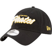 New Era Men's Pittsburgh Pirates 9Twenty Script Black Adjustable Hat