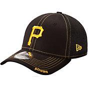 New Era Men's Pittsburgh Pirates 39Thirty Neo Black Flex Hat