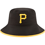 New Era Men's Pittsburgh Pirates Black Team Bucket Hat