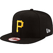 New Era Men's Pittsburgh Pirates 9Fifty Black Flag Stated Adjustable Hat