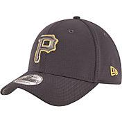 New Era Men's Pittsburgh Pirates 39Thirty Tone Tech Grey Flex Hat