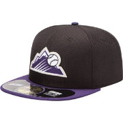 New Era Men's Colorado Rockies 59Fifty Diamond Era Black Batting Practice Hat