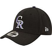 New Era Men's Colorado Rockies 39Thirty Classic Black Flex Hat