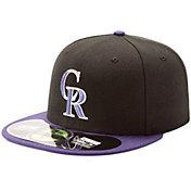 New Era Men's Colorado Rockies 59Fifty Alternate Black Authentic Hat