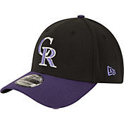 New Era Men's Colorado Rockies 39Thirty Alternate Classic Black Stretch Fit Hat