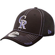 New Era Men's Colorado Rockies 39Thirty Neo Black Flex Hat