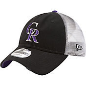 New Era Men's Colorado Rockies 9Twenty Rustic Black Adjustable Hat