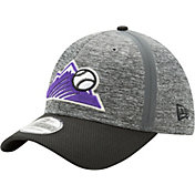 New Era Men's Colorado Rockies 39Thirty Clubhouse Grey/Black Flex Hat