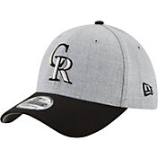 New Era Men's Colorado Rockies 39Thirty Change Up Redux Grey Stretch Fit Hat