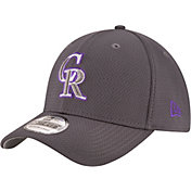 New Era Men's Colorado Rockies 39Thirty Tone Tech Grey Flex Hat