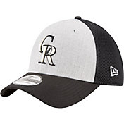 New Era Men's Colorado Rockies 39Thirty Heather Grey Neo Stretch Fit Hat