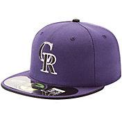 New Era Men's Colorado Rockies 59Fifty Alternate 2 Purple Authentic Hat