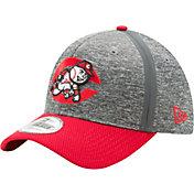 New Era Men's Cincinnati Reds 39Thirty Clubhouse Grey/Red Flex Hat