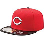 New Era Men's Cincinnati Reds 59Fifty Road Red Authentic Hat