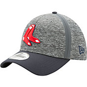 New Era Men's Boston Red Sox 39Thirty Clubhouse Grey/Navy Stretch Fit Hat
