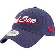New Era Men's Boston Red Sox 9Twenty Script Navy Adjustable Hat