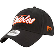 New Era Men's Baltimore Orioles 9Twenty Script Black Adjustable Hat