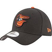 New Era Men's Baltimore Orioles 39Thirty Diamond Era Black Flex Hat