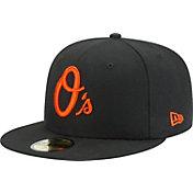 New Era Men's Baltimore Orioles 59Fifty Black State Logo Hat