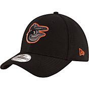 New Era Men's Baltimore Orioles 39Thirty Tone Tech Black Flex Hat