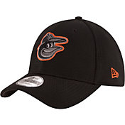 New Era Men's Baltimore Orioles 39Thirty Tone Tech Black Stretch Fit Hat