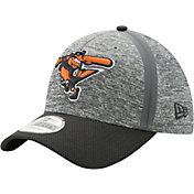 New Era Men's Baltimore Orioles 39Thirty Clubhouse Grey/Black Flex Hat