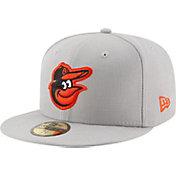 New Era Men's Baltimore Orioles 59Fifty Grey State Logo Hat