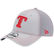 New Era Men's Texas Rangers 39Thirty Neo Grey Flex Hat