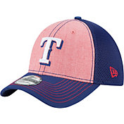 New Era Men's Texas Rangers 39Thirty Heathered Neo Flex Hat